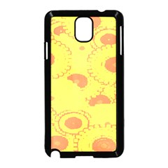 Circles Lime Pink Samsung Galaxy Note 3 Neo Hardshell Case (Black)