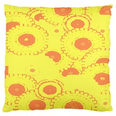 Circles Lime Pink Standard Flano Cushion Case (Two Sides)