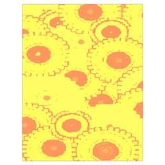 Circles Lime Pink Drawstring Bag (Large)