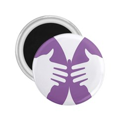 Colorful Butterfly Hand Purple Animals 2.25  Magnets