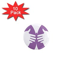Colorful Butterfly Hand Purple Animals 1  Mini Magnet (10 Pack)