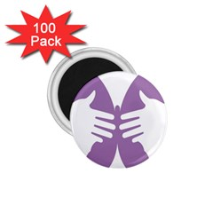 Colorful Butterfly Hand Purple Animals 1 75  Magnets (100 Pack)