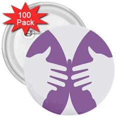 Colorful Butterfly Hand Purple Animals 3  Buttons (100 pack)