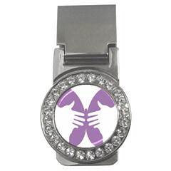 Colorful Butterfly Hand Purple Animals Money Clips (cz)