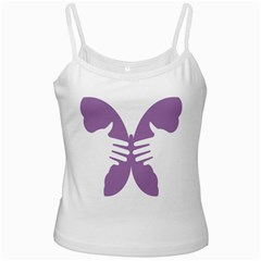 Colorful Butterfly Hand Purple Animals Ladies Camisoles