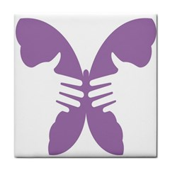 Colorful Butterfly Hand Purple Animals Face Towel