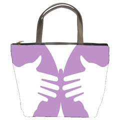 Colorful Butterfly Hand Purple Animals Bucket Bags