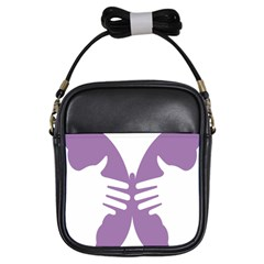 Colorful Butterfly Hand Purple Animals Girls Sling Bags