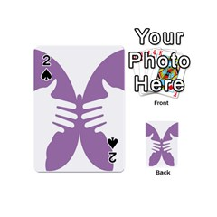 Colorful Butterfly Hand Purple Animals Playing Cards 54 (Mini)