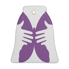 Colorful Butterfly Hand Purple Animals Ornament (Bell)