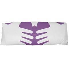 Colorful Butterfly Hand Purple Animals Body Pillow Case (Dakimakura)