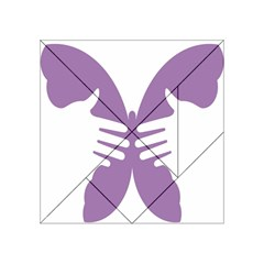 Colorful Butterfly Hand Purple Animals Acrylic Tangram Puzzle (4  X 4 )
