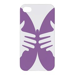 Colorful Butterfly Hand Purple Animals Apple Iphone 4/4s Premium Hardshell Case