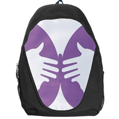 Colorful Butterfly Hand Purple Animals Backpack Bag