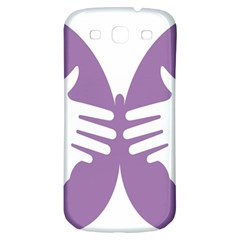 Colorful Butterfly Hand Purple Animals Samsung Galaxy S3 S III Classic Hardshell Back Case