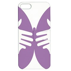 Colorful Butterfly Hand Purple Animals Apple iPhone 5 Hardshell Case with Stand