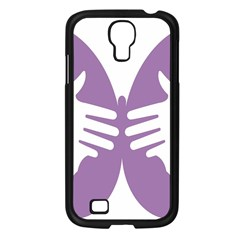 Colorful Butterfly Hand Purple Animals Samsung Galaxy S4 I9500/ I9505 Case (black)