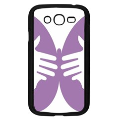 Colorful Butterfly Hand Purple Animals Samsung Galaxy Grand Duos I9082 Case (black)