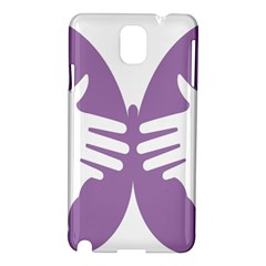 Colorful Butterfly Hand Purple Animals Samsung Galaxy Note 3 N9005 Hardshell Case