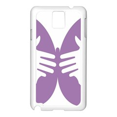 Colorful Butterfly Hand Purple Animals Samsung Galaxy Note 3 N9005 Case (White)