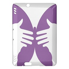 Colorful Butterfly Hand Purple Animals Kindle Fire HDX Hardshell Case