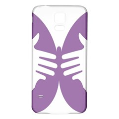 Colorful Butterfly Hand Purple Animals Samsung Galaxy S5 Back Case (White)