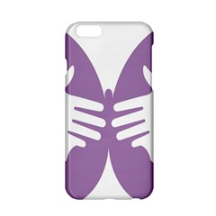 Colorful Butterfly Hand Purple Animals Apple iPhone 6/6S Hardshell Case