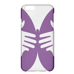 Colorful Butterfly Hand Purple Animals Apple iPhone 6 Plus/6S Plus Hardshell Case