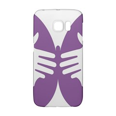 Colorful Butterfly Hand Purple Animals Galaxy S6 Edge