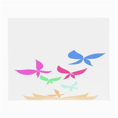 Colorful Butterfly Blue Red Pink Brown Fly Leaf Animals Small Glasses Cloth