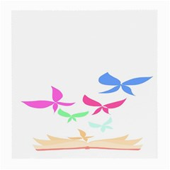 Colorful Butterfly Blue Red Pink Brown Fly Leaf Animals Medium Glasses Cloth