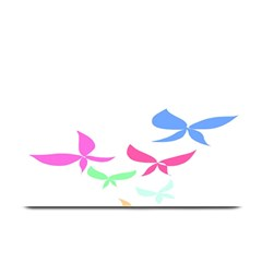 Colorful Butterfly Blue Red Pink Brown Fly Leaf Animals Plate Mats