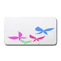 Colorful Butterfly Blue Red Pink Brown Fly Leaf Animals Medium Bar Mats