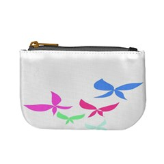 Colorful Butterfly Blue Red Pink Brown Fly Leaf Animals Mini Coin Purses