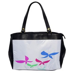 Colorful Butterfly Blue Red Pink Brown Fly Leaf Animals Office Handbags