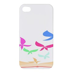 Colorful Butterfly Blue Red Pink Brown Fly Leaf Animals Apple Iphone 4/4s Premium Hardshell Case