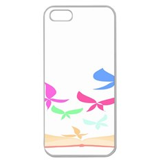 Colorful Butterfly Blue Red Pink Brown Fly Leaf Animals Apple Seamless iPhone 5 Case (Clear)