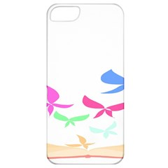 Colorful Butterfly Blue Red Pink Brown Fly Leaf Animals Apple iPhone 5 Classic Hardshell Case
