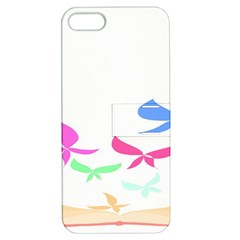 Colorful Butterfly Blue Red Pink Brown Fly Leaf Animals Apple iPhone 5 Hardshell Case with Stand