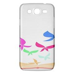 Colorful Butterfly Blue Red Pink Brown Fly Leaf Animals Samsung Galaxy Mega 5.8 I9152 Hardshell Case