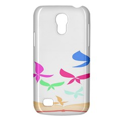 Colorful Butterfly Blue Red Pink Brown Fly Leaf Animals Galaxy S4 Mini