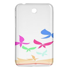 Colorful Butterfly Blue Red Pink Brown Fly Leaf Animals Samsung Galaxy Tab 3 (7 ) P3200 Hardshell Case