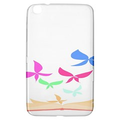Colorful Butterfly Blue Red Pink Brown Fly Leaf Animals Samsung Galaxy Tab 3 (8 ) T3100 Hardshell Case