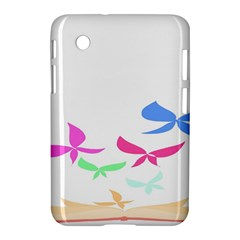 Colorful Butterfly Blue Red Pink Brown Fly Leaf Animals Samsung Galaxy Tab 2 (7 ) P3100 Hardshell Case