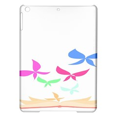Colorful Butterfly Blue Red Pink Brown Fly Leaf Animals iPad Air Hardshell Cases