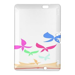 Colorful Butterfly Blue Red Pink Brown Fly Leaf Animals Kindle Fire HDX 8.9  Hardshell Case