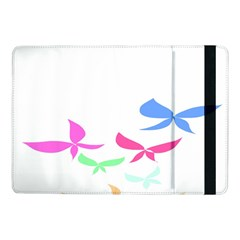 Colorful Butterfly Blue Red Pink Brown Fly Leaf Animals Samsung Galaxy Tab Pro 10.1  Flip Case