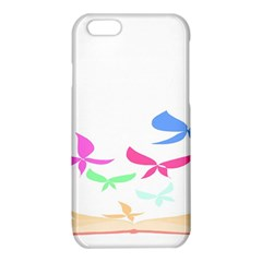 Colorful Butterfly Blue Red Pink Brown Fly Leaf Animals iPhone 6/6S TPU Case