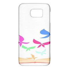Colorful Butterfly Blue Red Pink Brown Fly Leaf Animals Galaxy S6