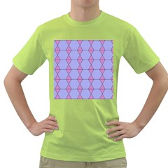 Demiregular Purple Line Triangle Green T-Shirt